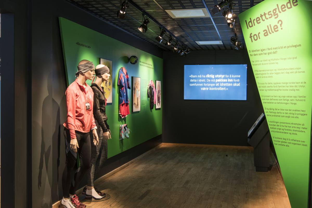 "From the exhibition ""Joy of Sport – for All"" at The Norwegian Olympic Museum."