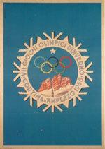 Offisiell plakat fra OL i Cortina 1956.