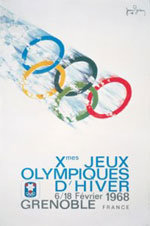 Offisiell plakat fra OL i Grenoble i 1968.