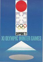 Offisiell plakat fra OL i Sapporo 1972.