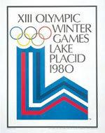 Offisiell plakat fra OL i Lake Placid 1980.