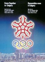 Offisiell plakat fra OL i Calgary 1988.
