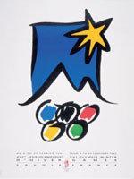 Offisiell plakat fra OL i Alberville 1992.
