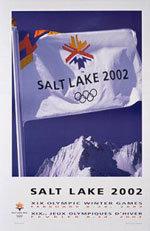 Offisiell plakat fra OL i Salt lake City i 2002.