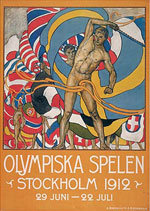Offisiell plakat fra OL i Stockholm i 1912.