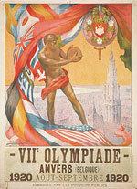 Offisiell plakat fra OL i Antwerpen i 1920.