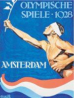 Offisiell plakat fra OL i Amsterdam i 1928.